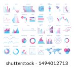 bundle of charts  diagrams ... | Shutterstock .eps vector #1494012713