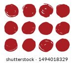 set of grunge circles.abstract... | Shutterstock .eps vector #1494018329