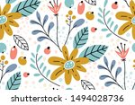 seamless pattern with creative... | Shutterstock .eps vector #1494028736