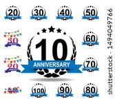 10 years multicolored icon ....