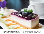 Piece Of Blueberry Cheese Cake...