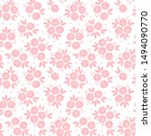 floral pattern. pretty flowers...   Shutterstock .eps vector #1494090770