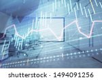 stock market chart with trading ... | Shutterstock . vector #1494091256