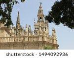 Detail of the Giralda tower in Seville