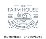 farm logo isolated on white... | Shutterstock .eps vector #1494096053