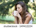 beautiful brunette girl... | Shutterstock . vector #149412224