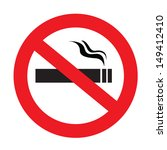 A Sign Showing No Smoking Is...