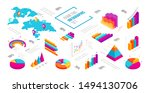 abstract isometric infographics ... | Shutterstock .eps vector #1494130706
