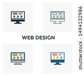 web design icon set. four...