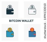 bitcoin wallet icon set. four...   Shutterstock .eps vector #1494133010