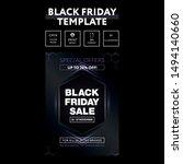 black friday sale inscription... | Shutterstock .eps vector #1494140660