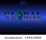 global network text with world... | Shutterstock .eps vector #149414084