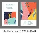 set of creative universal cards....   Shutterstock .eps vector #1494141590
