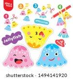 application jellyfish kid game... | Shutterstock .eps vector #1494141920