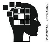 forget memory alzheimer icon.... | Shutterstock .eps vector #1494153833