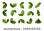 3d green arrows set. vector... | Shutterstock .eps vector #1494154703