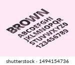 hole alphabet. trendy romano... | Shutterstock .eps vector #1494154736