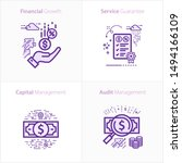business and finance icon set ... | Shutterstock .eps vector #1494166109