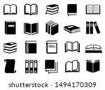 Book Icon Set Vector  Book...
