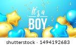 it's a boy  baby shower... | Shutterstock .eps vector #1494192683