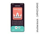 audiobook player smartphone...