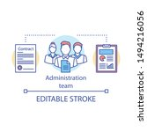 administration team concept... | Shutterstock .eps vector #1494216056