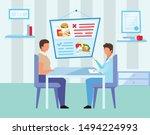 doctor prescribing healthy diet ... | Shutterstock .eps vector #1494224993