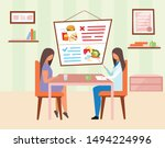 woman visiting nutritionist... | Shutterstock .eps vector #1494224996