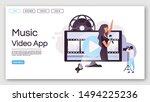 music video app landing page...