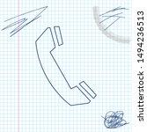 telephone handset line sketch...