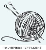 Ball Of Yarn And Needles...