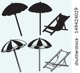 chair and beach umbrella... | Shutterstock .eps vector #149424029