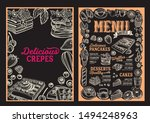waffle and pancake menu... | Shutterstock .eps vector #1494248963