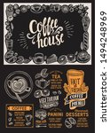 coffee menu template for... | Shutterstock .eps vector #1494248969
