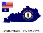 Map Flag Of The U.s. State Of...