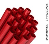 Red Plastic Communication Pipes ...
