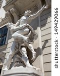 Small photo of Vienna - Statue of Hercules fighting Antaeus from entry to Hofburg palaces