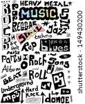 music words seamless background   Shutterstock . vector #149430200