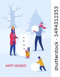 xmas party card or invitation... | Shutterstock .eps vector #1494312353