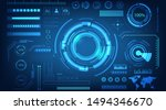 abstract technology futuristic...   Shutterstock .eps vector #1494346670