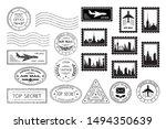 postal stamps and postmarks.... | Shutterstock .eps vector #1494350639