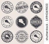 armenia travel stamp made in... | Shutterstock .eps vector #1494369833