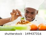 portrait of afro american chef...   Shutterstock . vector #149437316