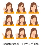 young woman vector illustration ...   Shutterstock .eps vector #1494374126