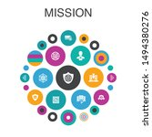 mission infographic circle...