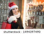 Smiling Young Woman Shopping I...