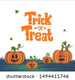 trick or treat illustration... | Shutterstock .eps vector #1494411746