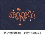 spooky lettering. halloween... | Shutterstock .eps vector #1494438116