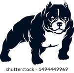 simple vector of american bully ... | Shutterstock .eps vector #1494449969