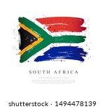 flag of south africa. vector... | Shutterstock .eps vector #1494478139